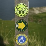 Wales Coast Path and North Wales Path signs