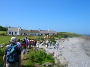 Walkers at Moelfre