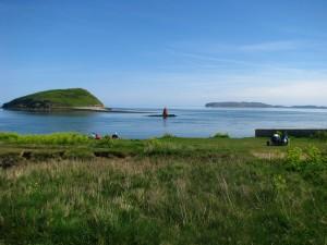 Ynys Seiriol - Puffin Island with Llandudno in background.