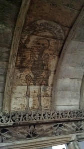 llaneilian church skeleton