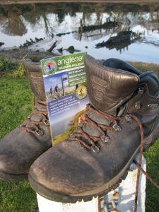 boots and Anglesey Walking leaflet